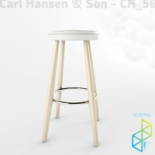 Carl Hansen Son Ch56 Bar Stool 3d Model Max Obj 3ds