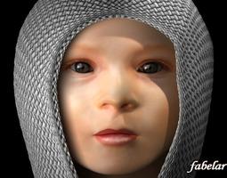 Baby head 16923 3D Model