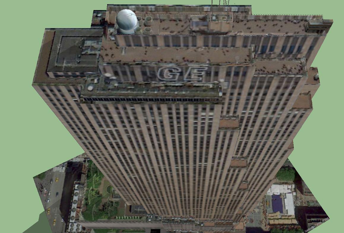 30 Rockefeller Plaza Ge Building 3d Model Skp Cgtrader Com