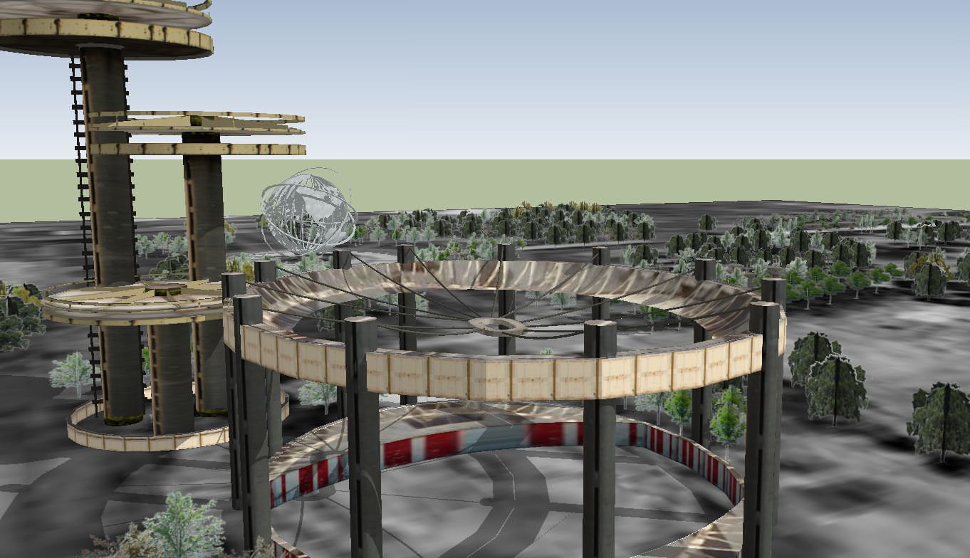 Flushing Meadows Corona Park 3d Model Skp Cgtrader Com