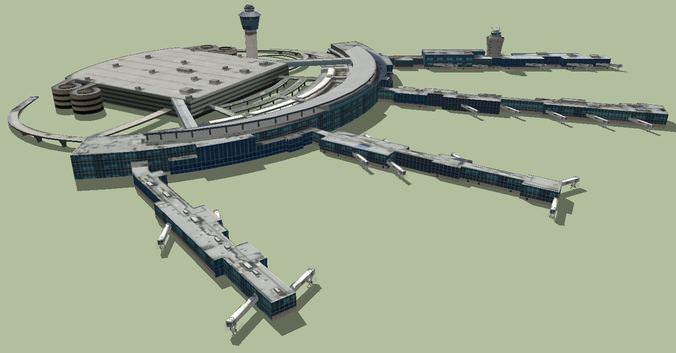 Laguardia International Airport 3d Model Skp Cgtrader Com