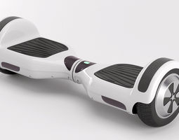 two wheel electric unicycle scooter 3d