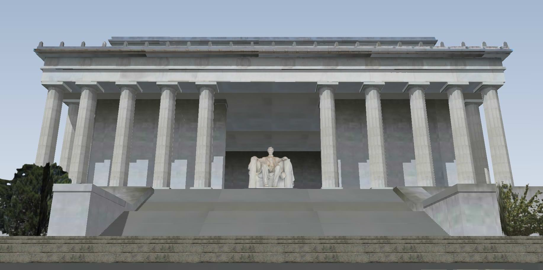 Lincoln Memorial 3D Model .skp - CGTrader.com