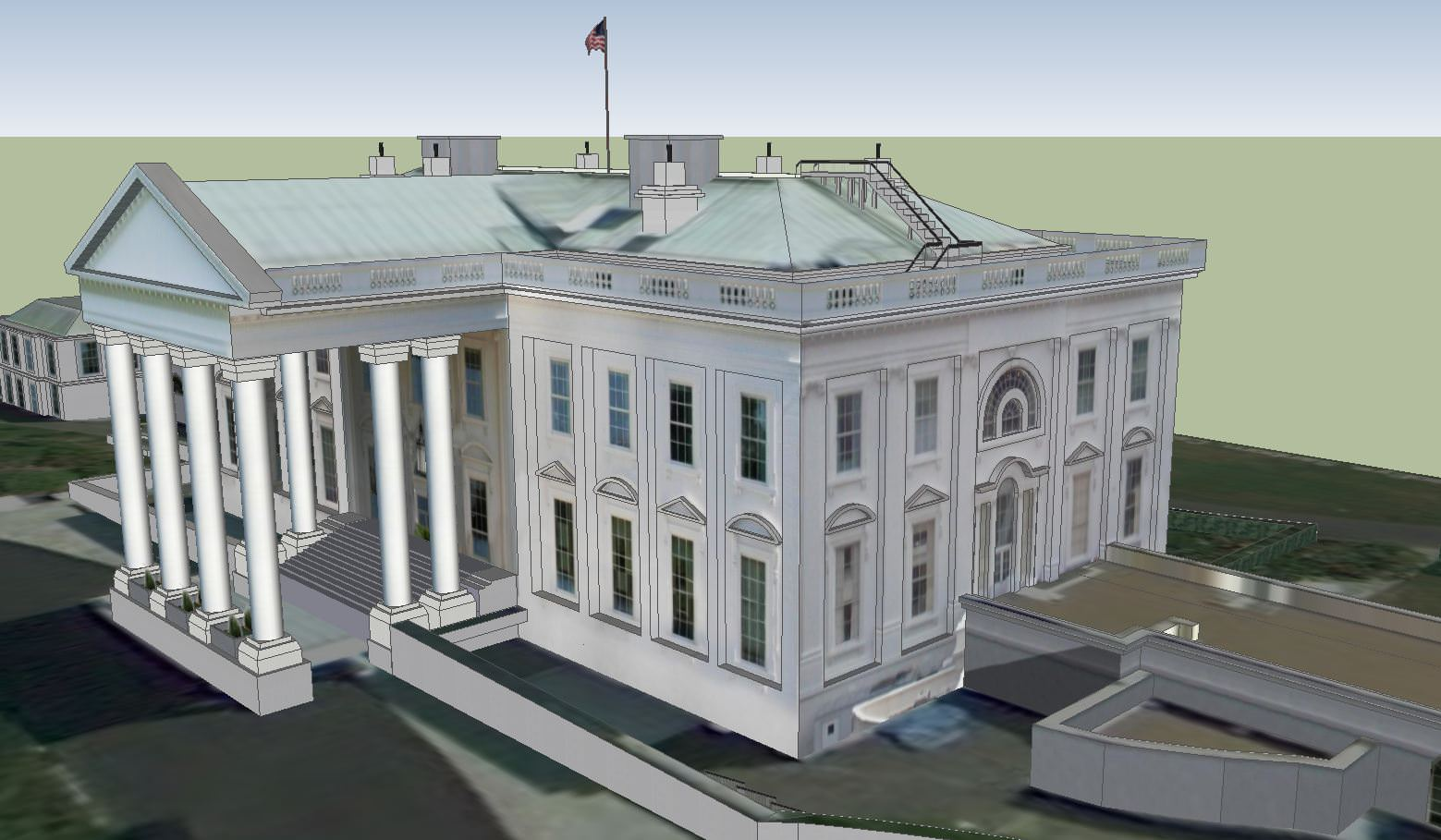 The white house 3d model skp for The model house