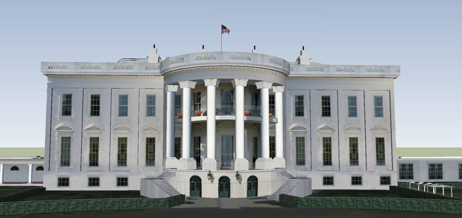 The White House 3d Model Skp