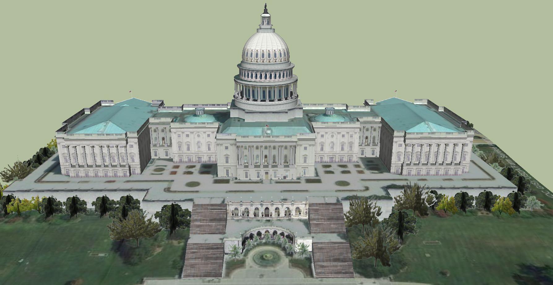 Capitol Hill The Capitol Building 3d Model Skp Cgtrader Com