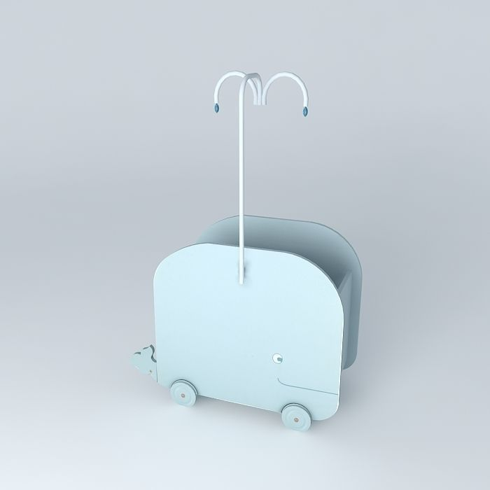 baby blue whale cradle marin maisons du monde 3d model max obj 3ds fbx stl dae. Black Bedroom Furniture Sets. Home Design Ideas
