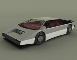Aston Martin Bulldog Concept 3D Model