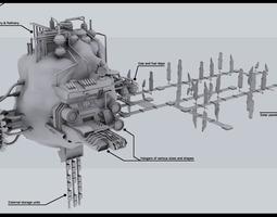 3D model SSC Mining Outpost