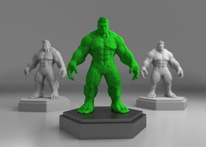 hulk 3d print model 3d model obj mtl ma mb stl 1