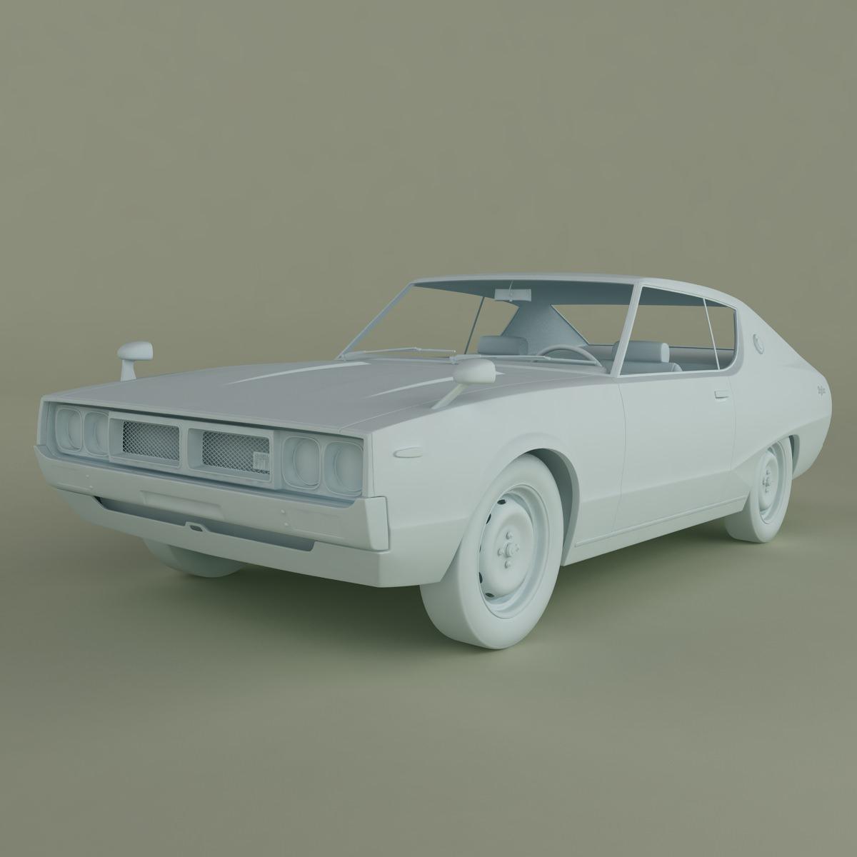 New Datsun Models: Datsun Skyline 240K GT 3D Model MAX OBJ 3DS FBX