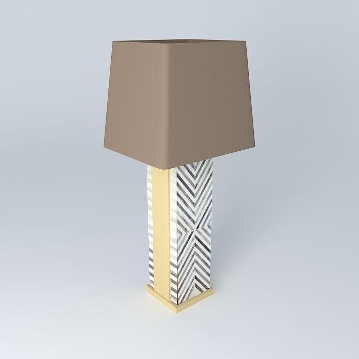 3d model west elm chevron deco table lamp cgtrader west elm chevron deco table lamp 3d model max obj 3ds fbx stl dae 1 aloadofball Choice Image
