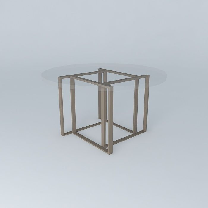 Crate And Barrel Tory Round Coffee Table Free 3d Model Max Obj 3ds Fbx Stl Dae