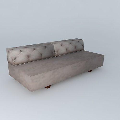 west elm tillary tufted sofa 3d model max obj 3ds fbx stl dae 1 ...