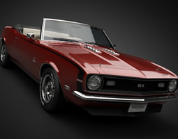 1968 Chevrolet Camaro SS Convertible 3D Model