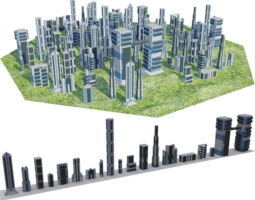 3D asset Futuristic Towers