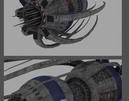 Babylon Station 3D asset