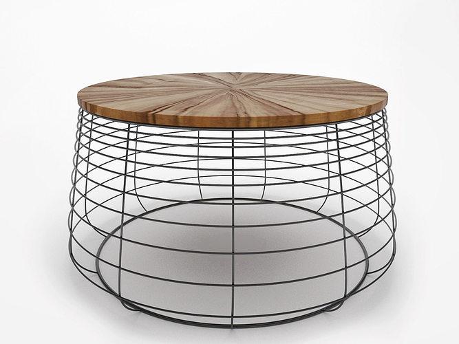 apis coffee table 3d model 3ds skp 1