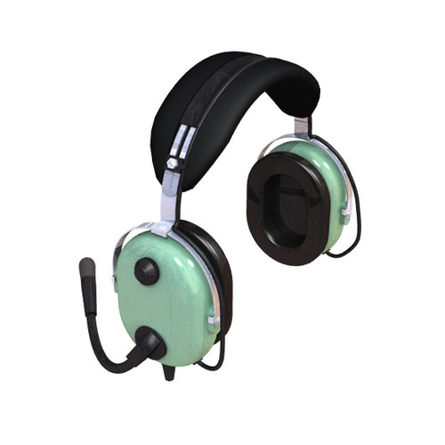 Pilot Headset 3D Model .3ds .lwo .lw .lws