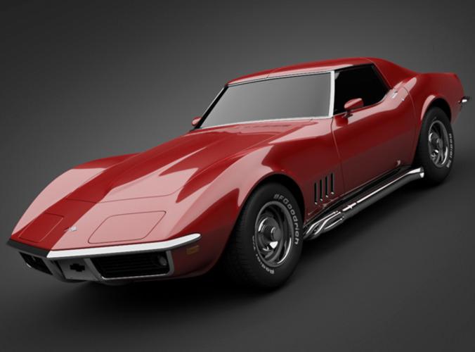 3d Model 1969 Chevrolet Corvette