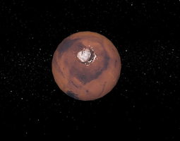 Planet Mars 3D print model