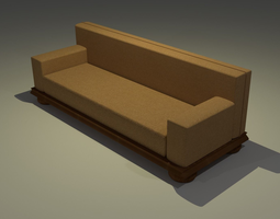 3D model A Fabric Couch