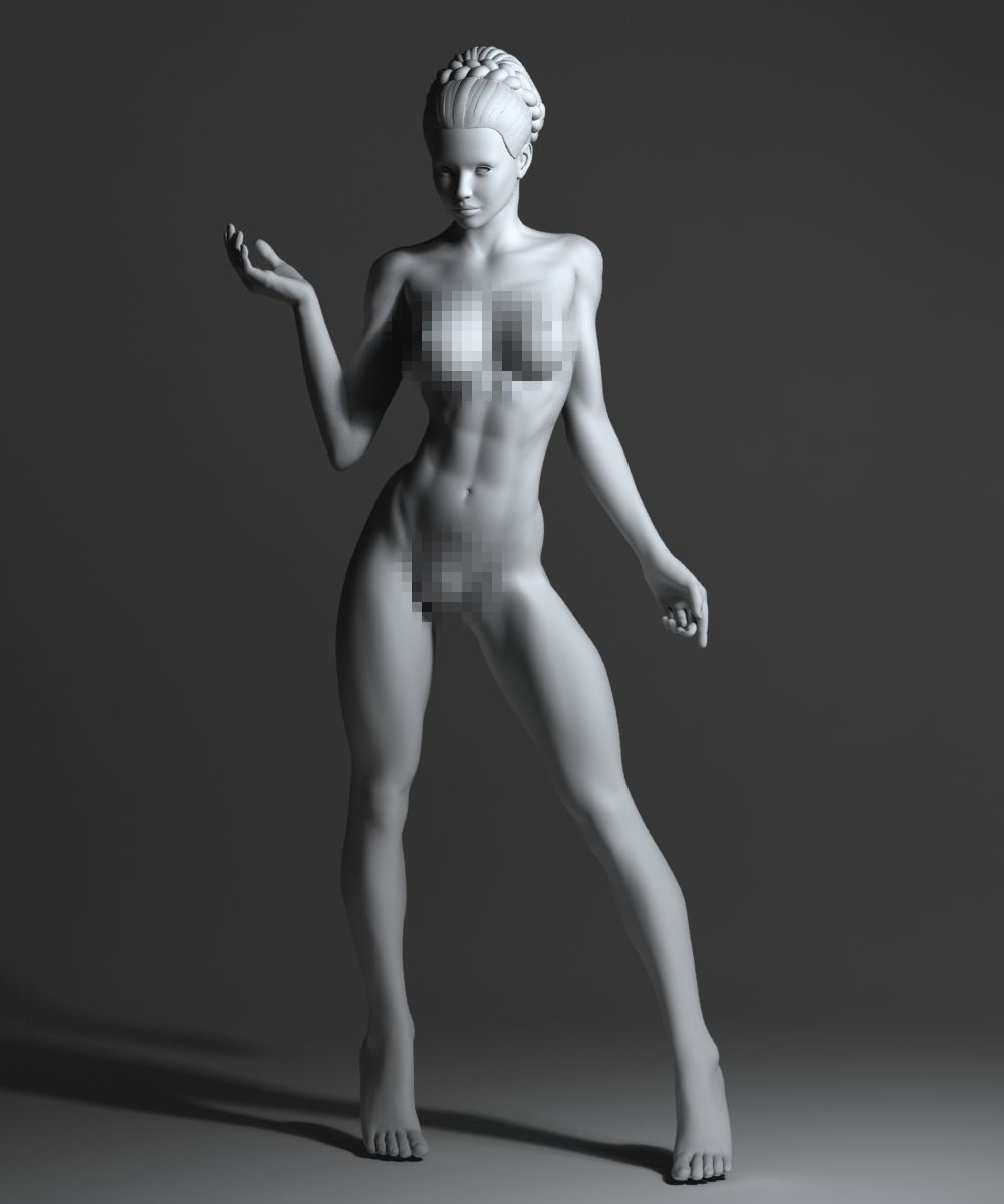 Woman strong a naked