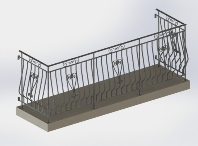 3d gurdrail at balcony free 3d model stl for Balcony models