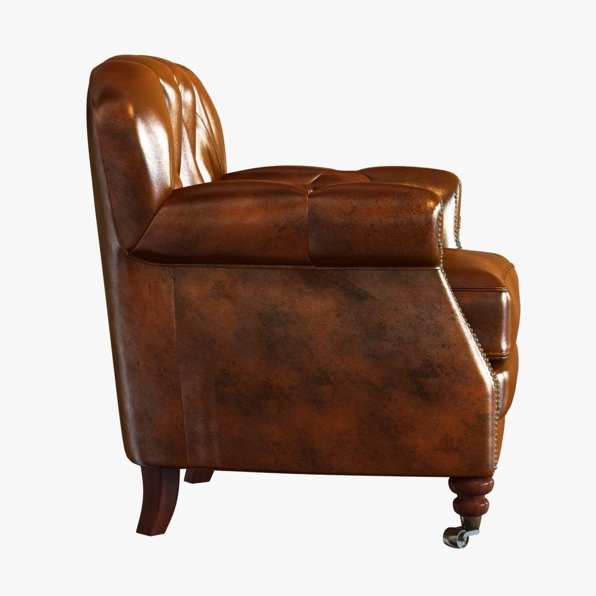 noir furniture club chair vintage cigar leather 3d model max obj 3ds fbx mtl
