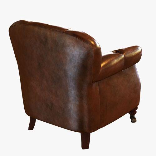 noir furniture club chair vintage cigar le 3D Model