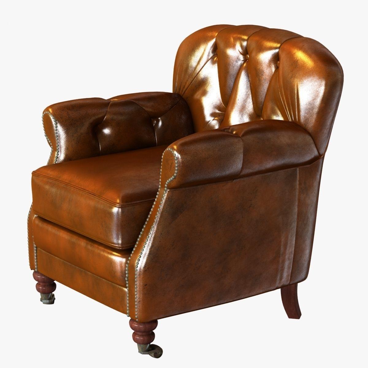 Noir Furniture Club Chair Vintage Cigar Le 3d Model Max Obj 3ds Fbx