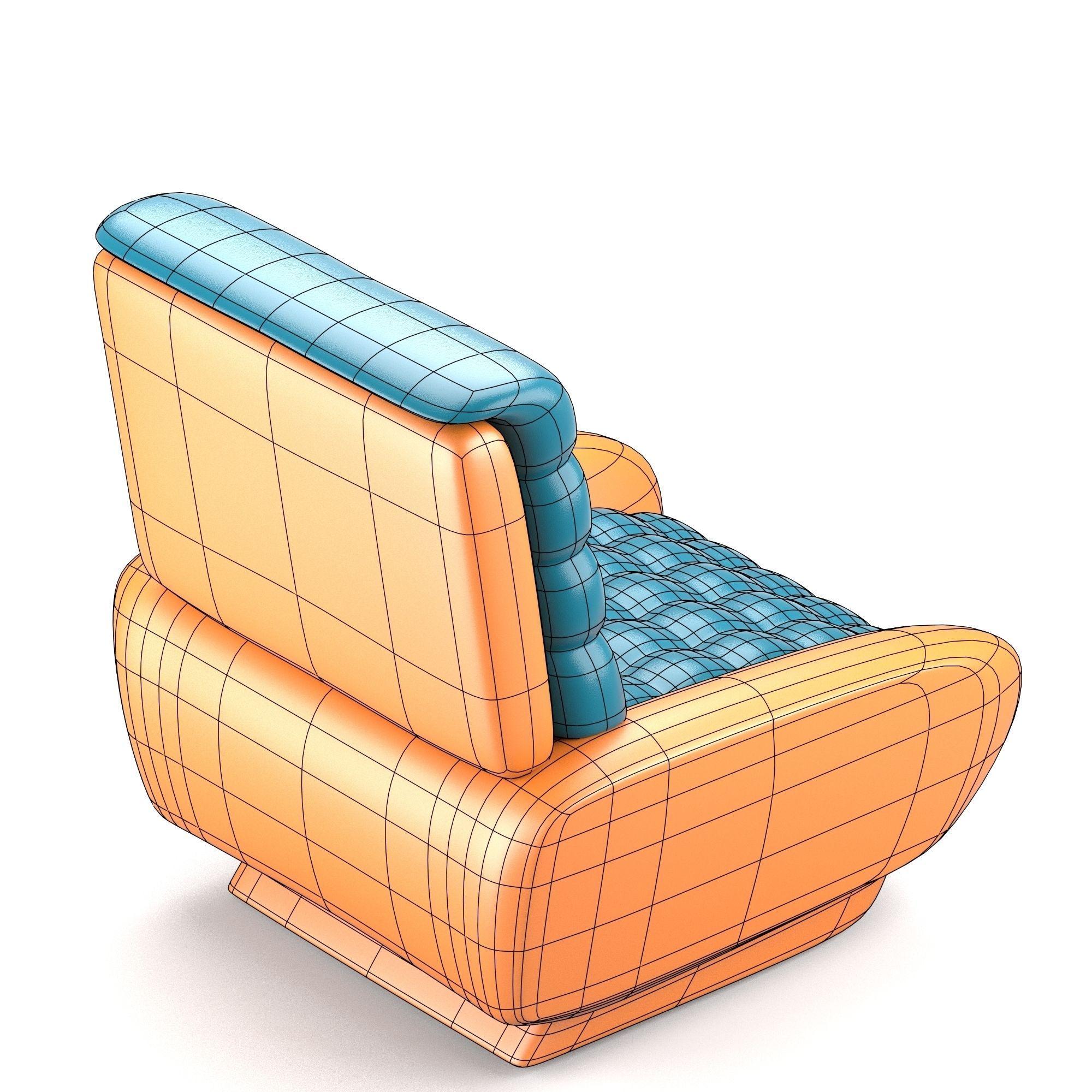 Futuristic design chair 3d model obj fbx stl blend dae for New model chair design