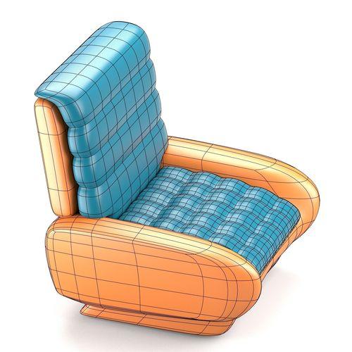 Futuristic design chair 3d model obj fbx stl blend for New model chair design
