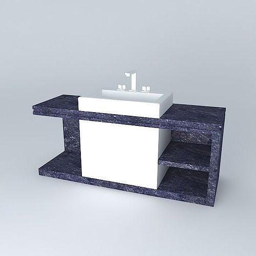 pia de granito granite sink free 3D Model MAX OBJ 3DS FBX ... on Granite Models  id=60788