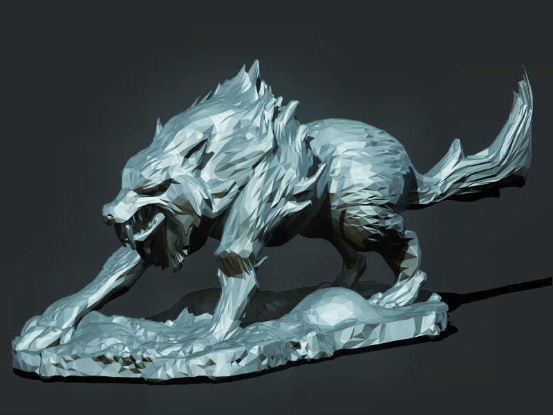 Wolf monster 3d model 3d printable obj stl for Monster 3d model