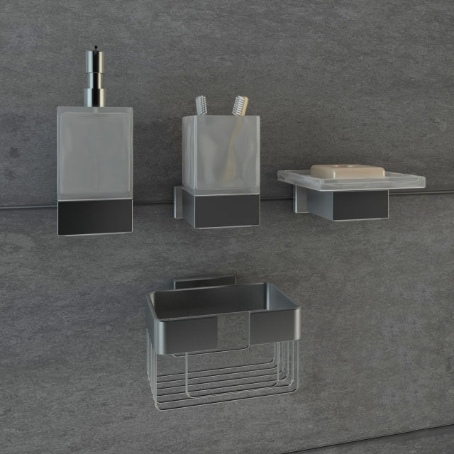 Bathroom accessories 3d model max fbx for 3d bathroom accessories