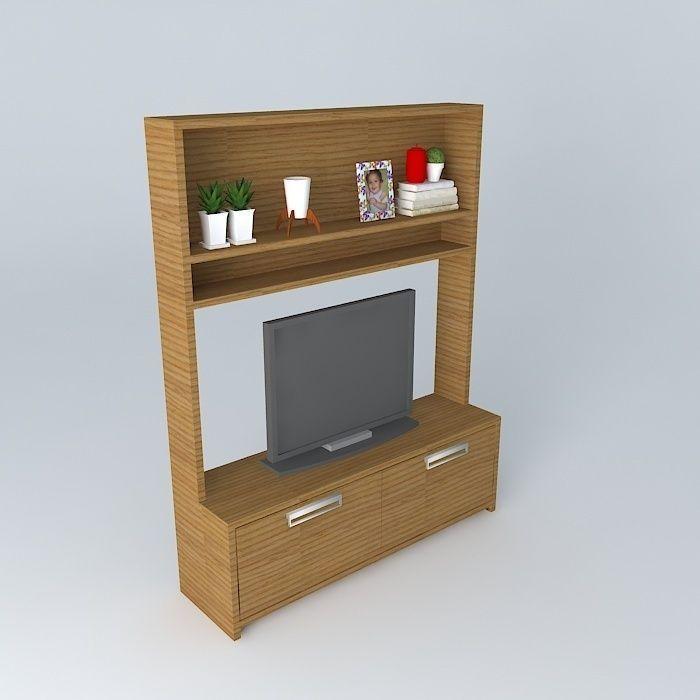 small tv rack rack de tv pequeno 3D | CGTrader