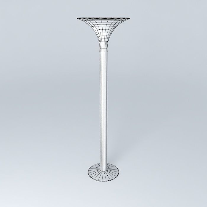 Tocheiro torchiere floor lamp free 3d model max obj 3ds for Floor lamp 3ds max free model
