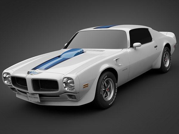 Different Car Models List >> 1972 Pontiac Firebird TransAm 3D | CGTrader