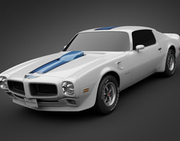 1972 Pontiac Firebird TransAm 3D Model
