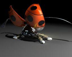 ladybug robot 3d animated
