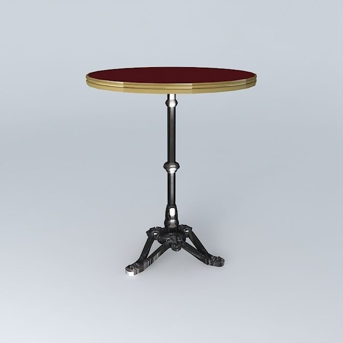 Bistro table ronde ardamez company 3d model max obj 3ds fbx stl dae c - Table ronde 8 couverts ...