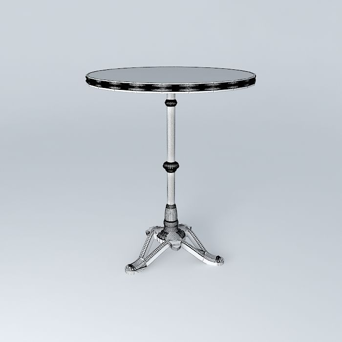 Bistro table ronde ardamez society 3d model max obj 3ds - Table ronde 5 personnes ...
