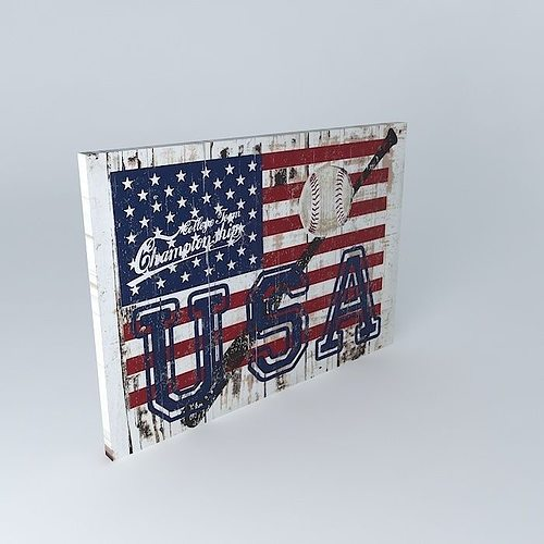 Decorative wall usa flag andrews maisons du monde 3d model for Maisons du monde usa