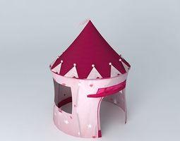 children tent princess castle houses the world 3d model
