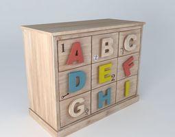storage cabinet school child alphabet houses the world 3d