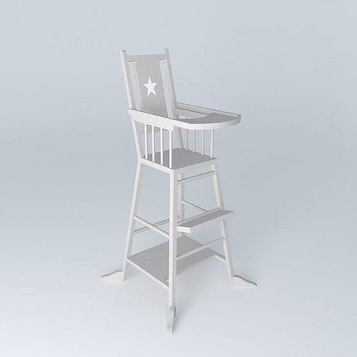 baby highchair taupe dream houses the world 3d model max obj mtl 3ds fbx stl dae 1
