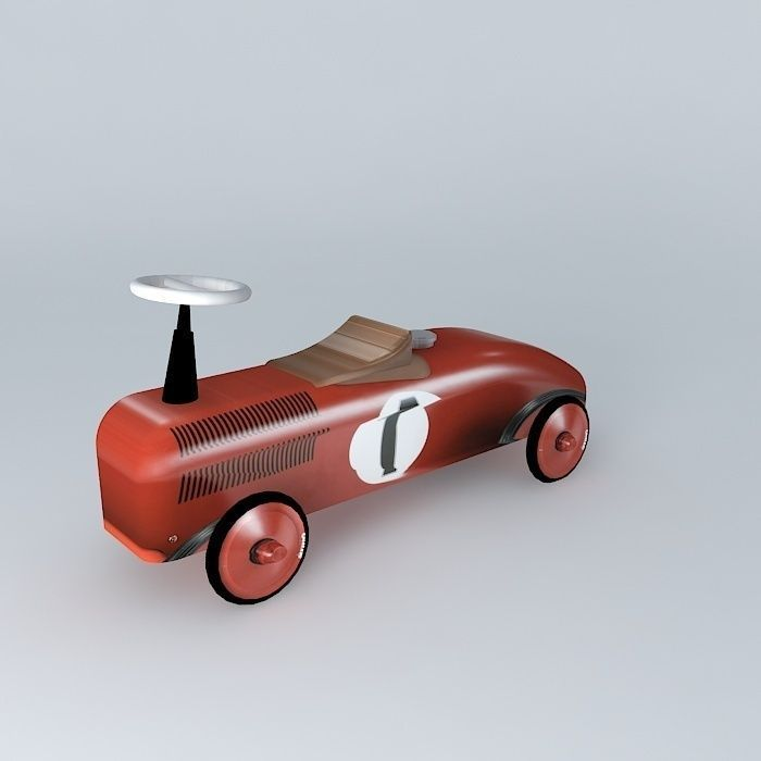 Red metal rolling toys Vilac houses the world