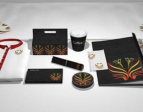 3D Restaurant Branding set
