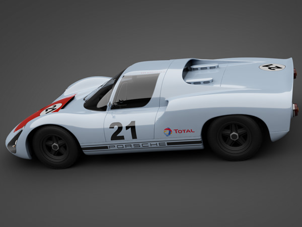 1966 Porsche 910 Race Car 3d Model Max Obj 3ds Lwo Lw